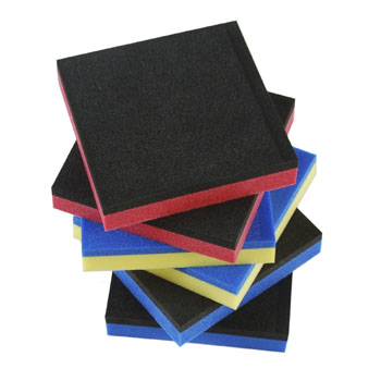 foam spacer blocks, assorted colors