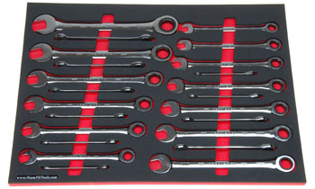 Foam organizer F-03104-R1 and tools from the Craftsman 298-pc set CMMT12039