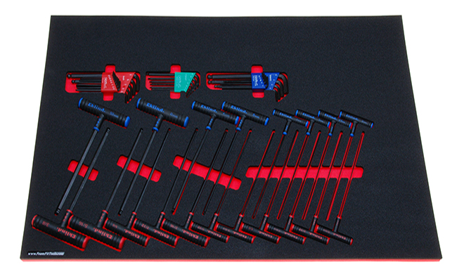 Foam Organizer for 48 Eklind Hex and Torx Keys