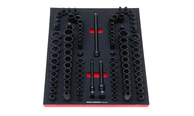 Foam Organizer for 94 Husky Impact Sockets and 9 Drive Tools