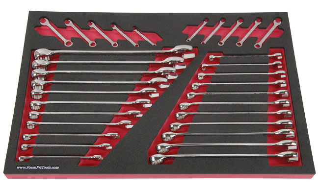 Foam Organizer for Craftsman Full-Polish Combination Wrenches from the 32-Piece Wrench Set