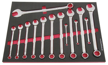 Foam Organizer F1M-01408 and 14 Craftsman Inch Combination Wrenches