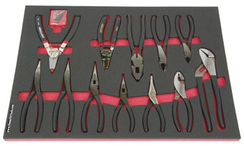 Foam Organizer F1M-01871 and 12 Craftsman Pliers