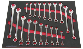 Foam Organizer F1M-02053 and 20 Craftsman Wrenches