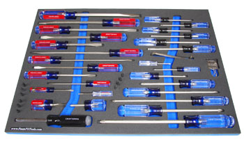 Foam Organizer F3M-00720 and Craftsman 41-pc Screwdriver Set 31798